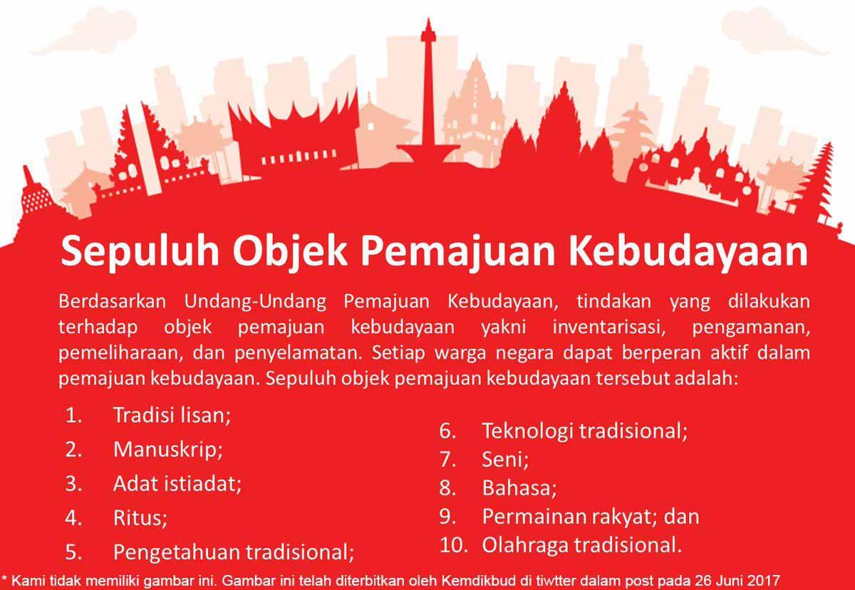 Objek Pemajuan Kebudayaan Kemdikbud
